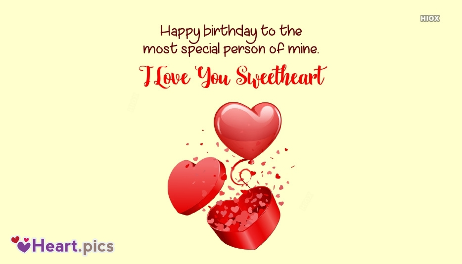 Happy Birthday Wishes With Love For Sweetheart
