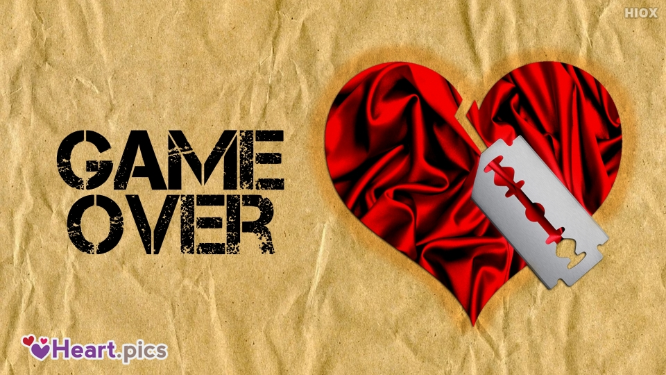 Game Over With Heart Image
