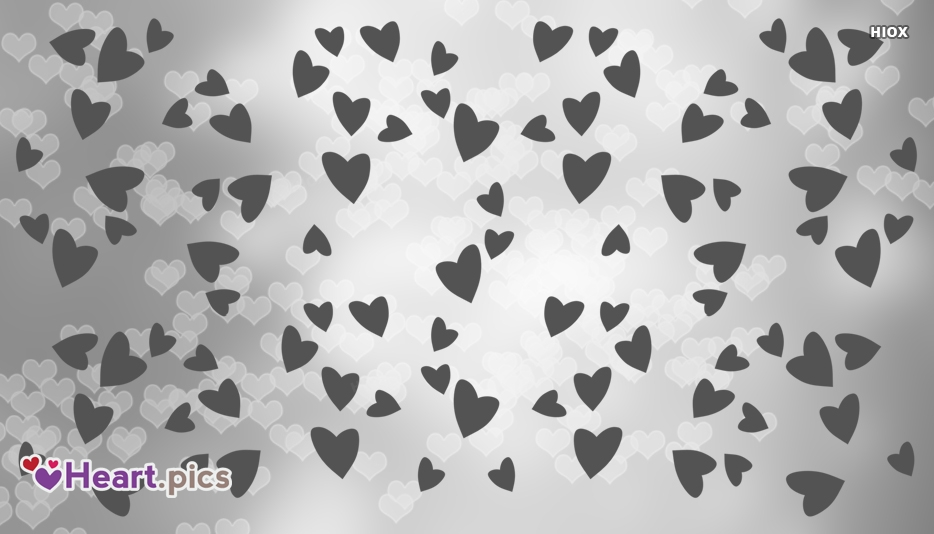 Love Hearts Patterns Black and White