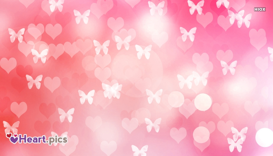 Love Hearts Butterfly Background Picture