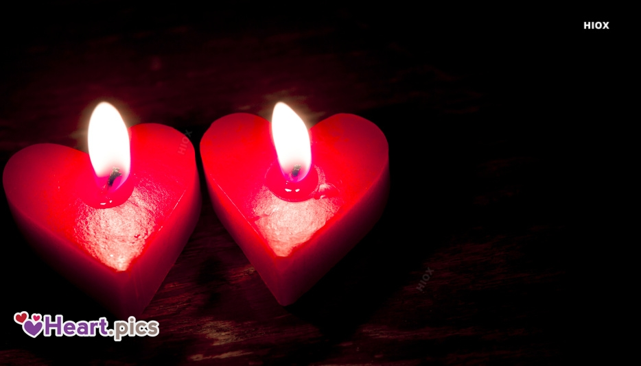 Love Heart Candles Images