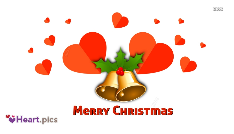 Happy Christmas Greetings Images With Love Hearts