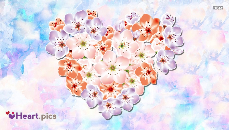 Love Heart Flower Images