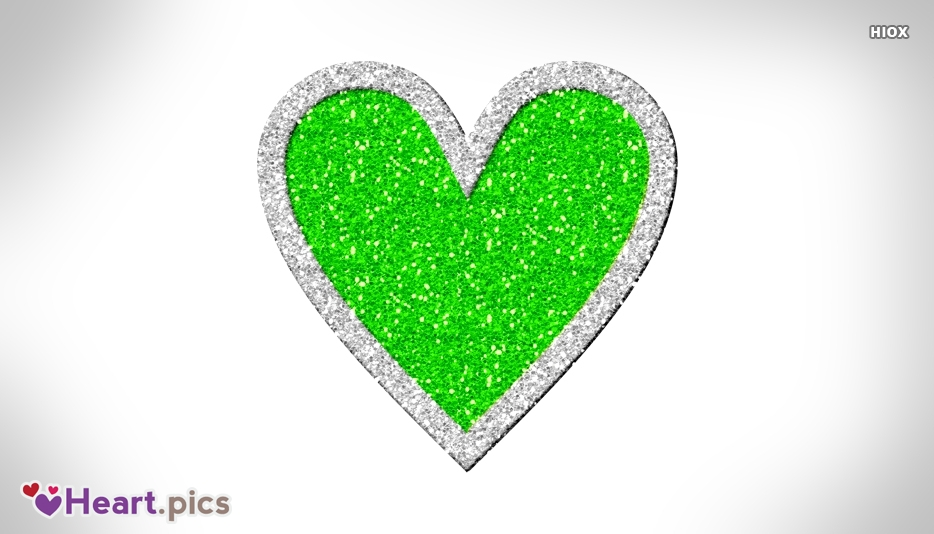 Green Love Heart Images, Pictures