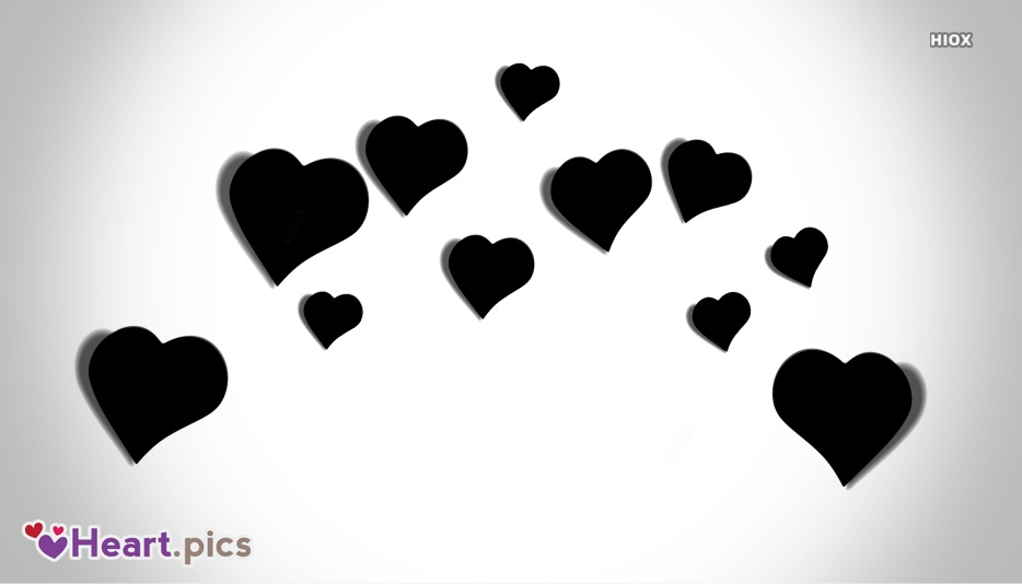 Black And White Heart Images, Pictures