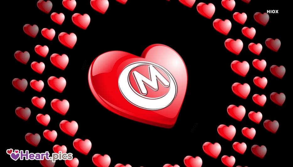Letter M Love Heart Images, Pictures