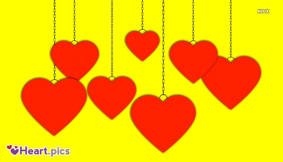 Hanging Love Heart Images, Pictures