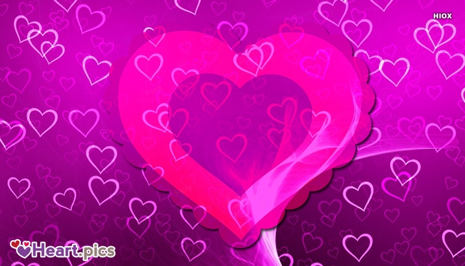 Beautiful Love Hearts Purple Background Image