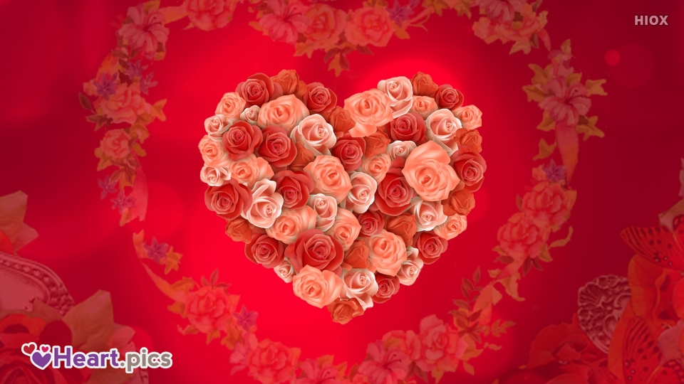 Flowers Love Heart Images, Pictures