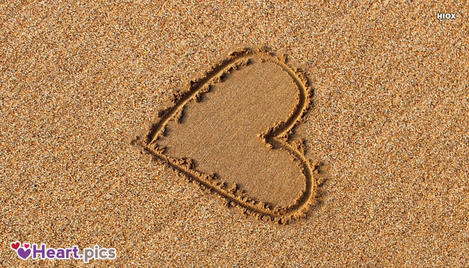 Heart Love Beach