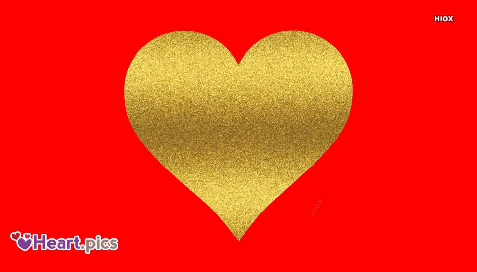 Gold Love Heart Images, Pictures