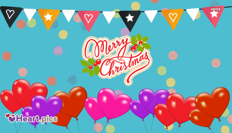 Happy Christmas Images, Pictures With Love Hearts