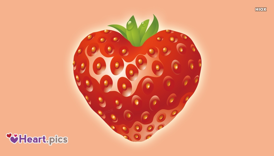 Heart Love Strawberry