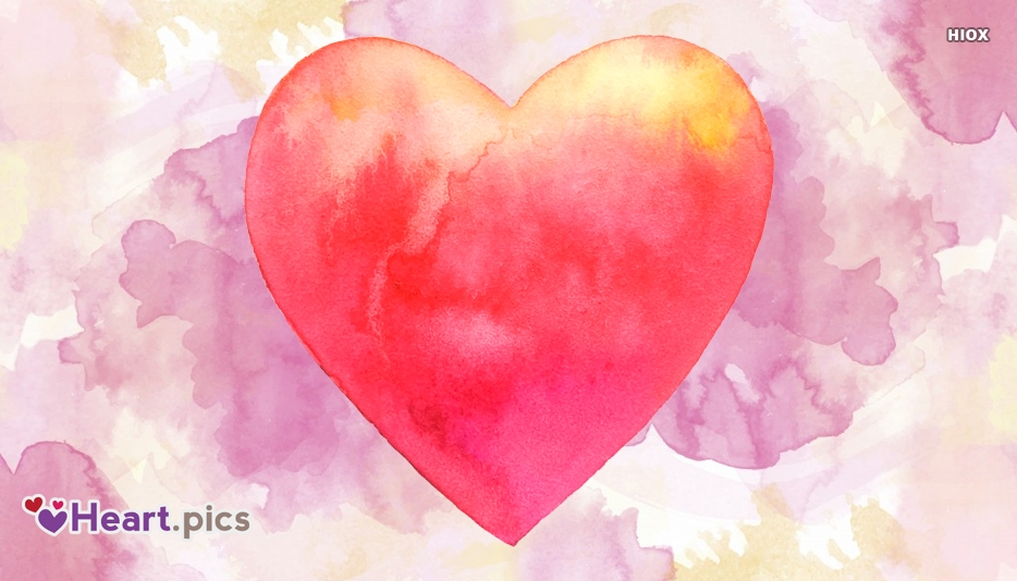 Watercolor Heart Images, Designs