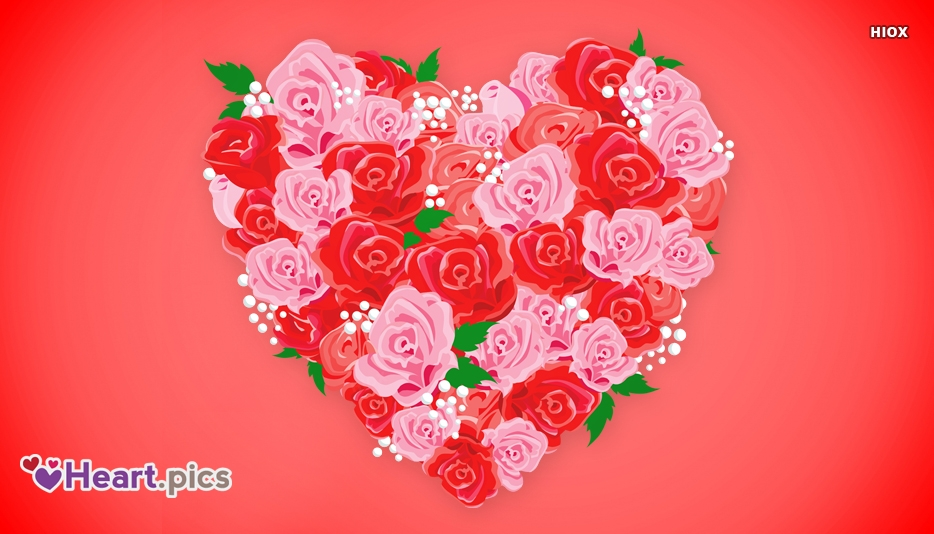 Roses Love Heart Images, Pictures