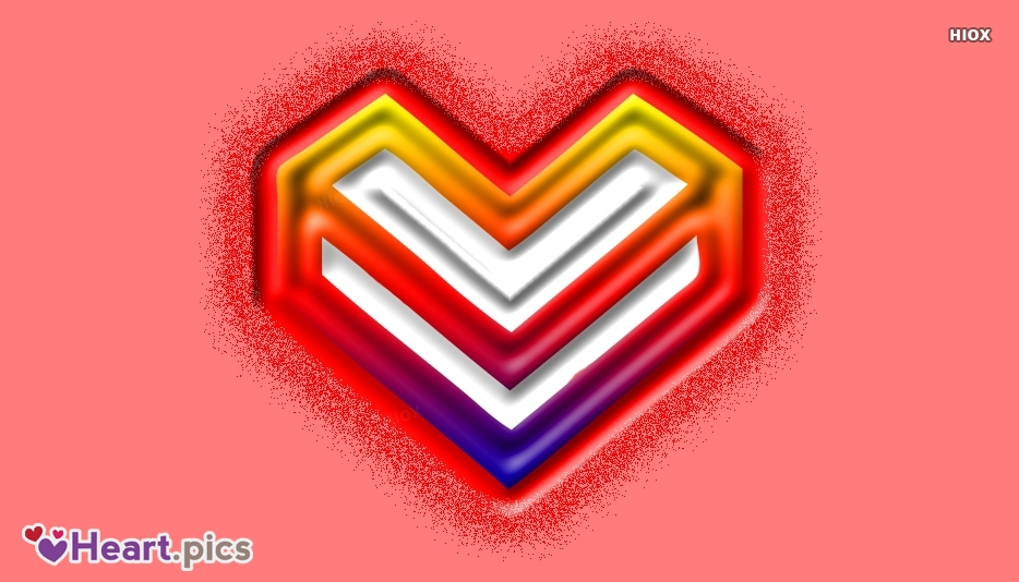 Letter V Love Heart Images, Pictures