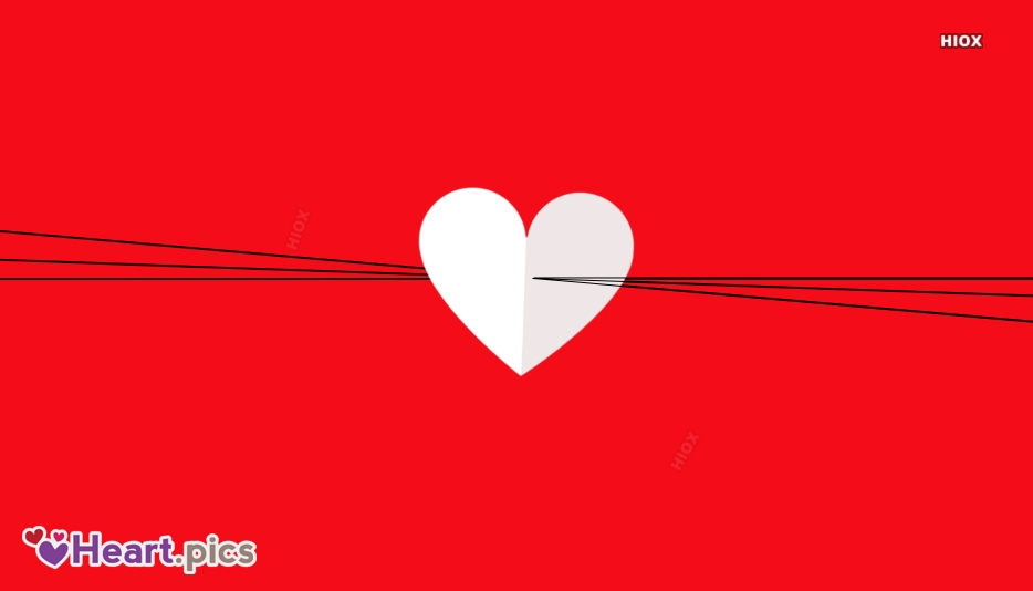 Heart With Red Background Image