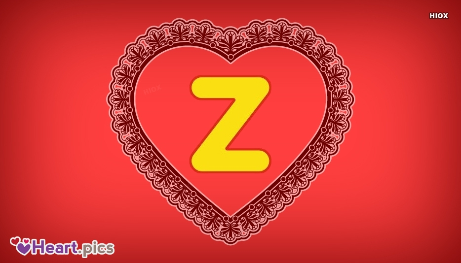 Letter Z Love Heart Images, Pictures