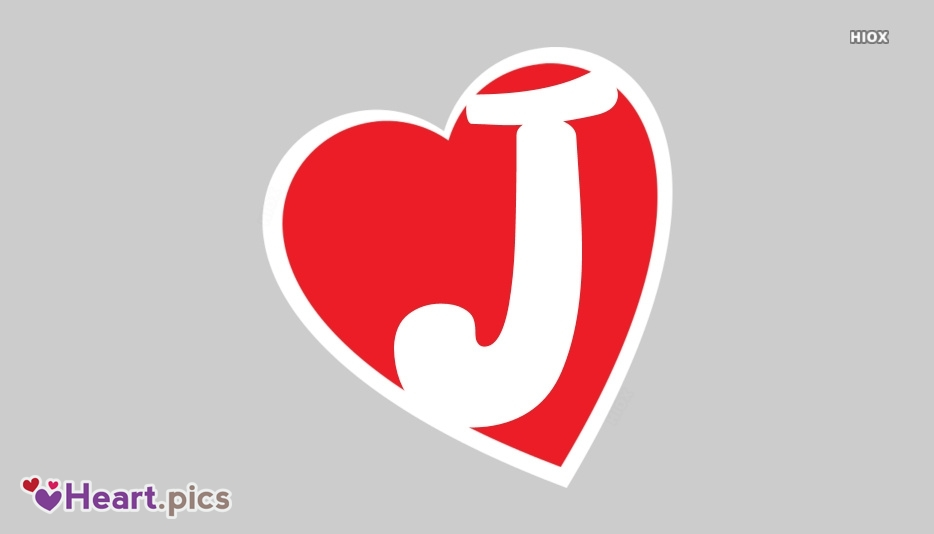 Letter J Love Heart Images, Pictures