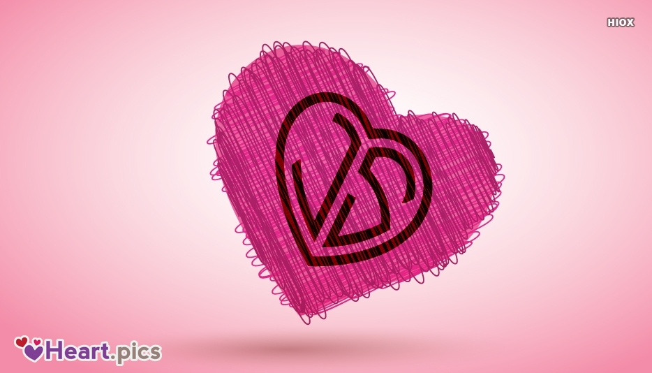 JS Initials Love Heart Picture
