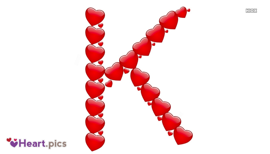 Letter K Love Heart Images, Pictures