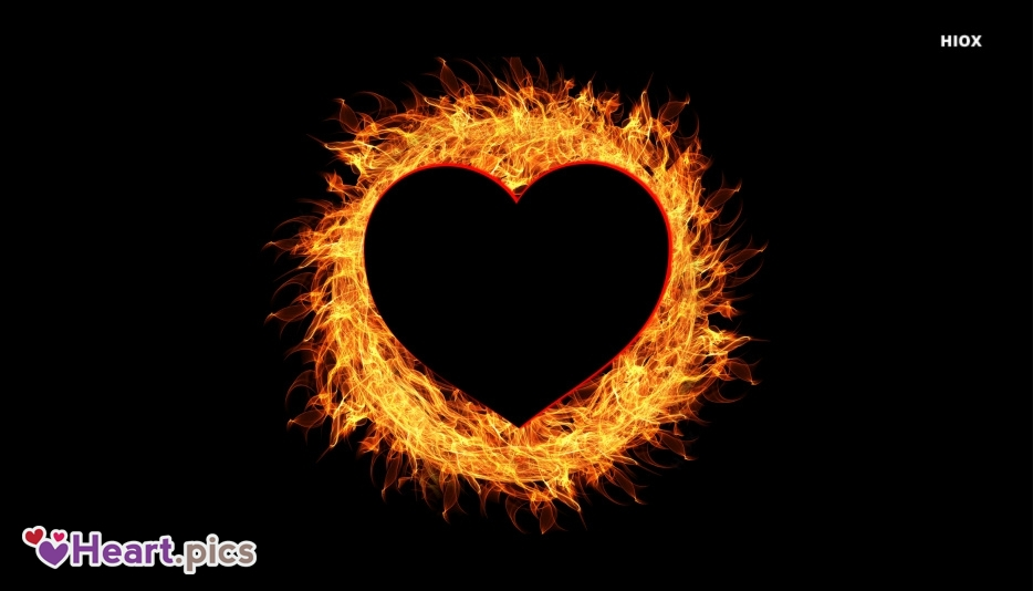 Love Heart On Fire