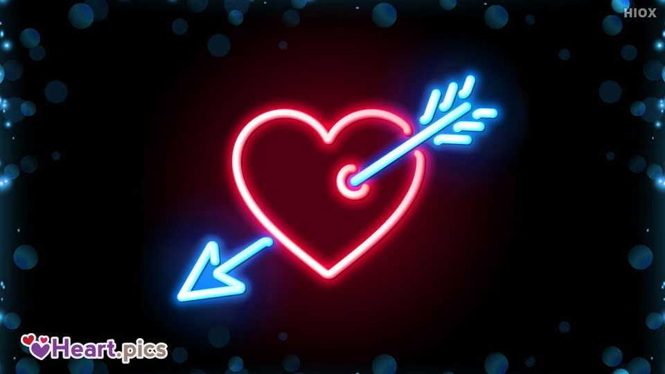 Neon Light Love Heart Images, Pictures
