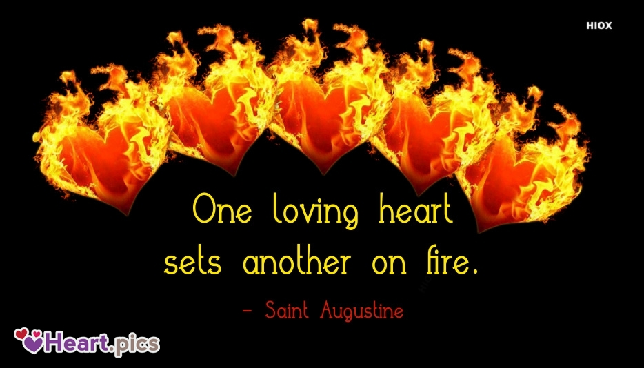 One Loving Heart Sets Another On Fire