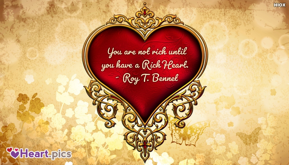 Roy T. Bennet Heart Quotes