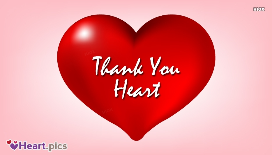Thank You Love Heart Images, Pictures