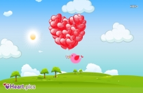 Beautiful Flying Heart Balloons Image