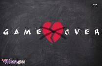 Game Over Broken Heart Image
