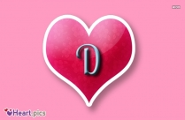 Love Heart Image with D Letter