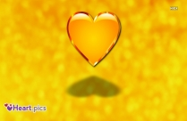Heart Love Yellow