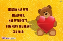 Heart Quotes With Teddy Bear