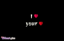 I Love Your Heart Beautiful Black Background Wallpaper