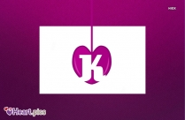 K Letter With Heart Image