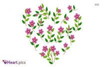 Love Heart Flower Image