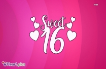Sweet 16 Heart Image