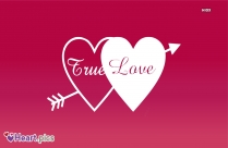 Love Heart with True Love Text
