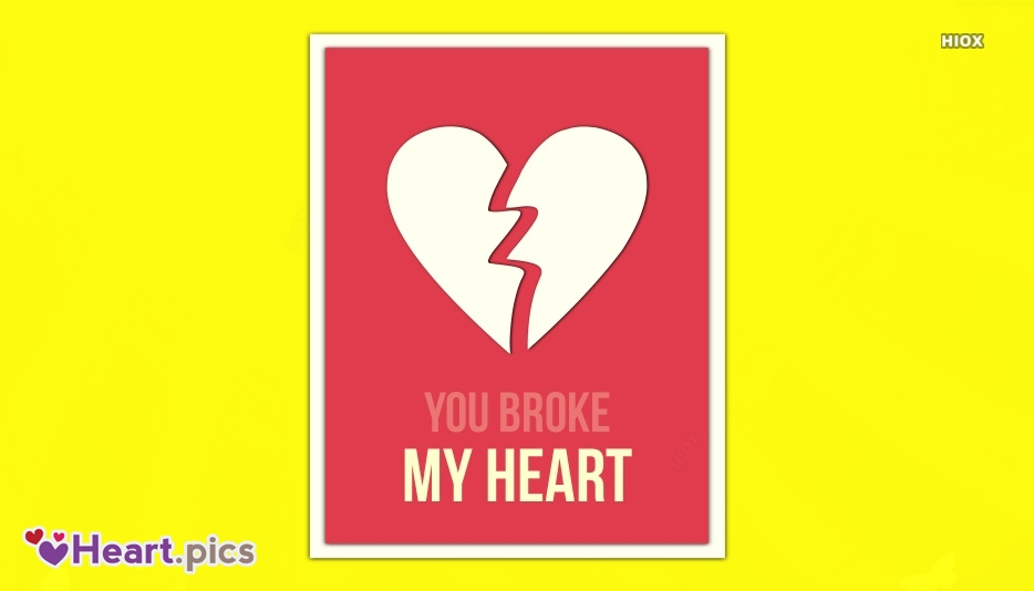Heart Breaking Love Heart Images, Pictures