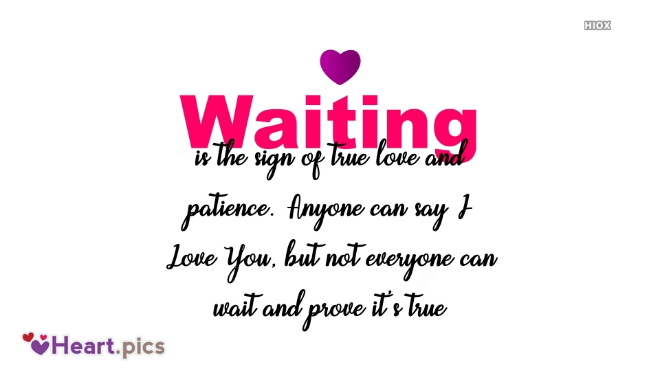 Waiting For Your Heart Quote Image